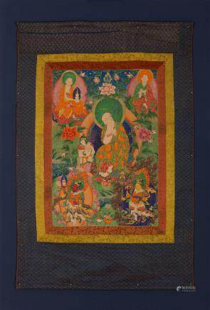 A thangka of Three Arhats