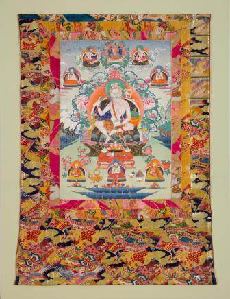 A very rare thangka of Naropa