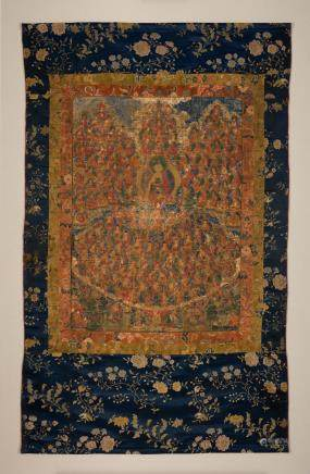 A thangka of the Shakyamuni Buddha Field of Accumulation