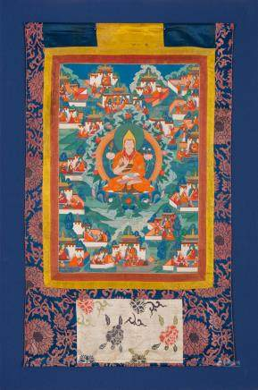 A thangka of Tsongkhapa