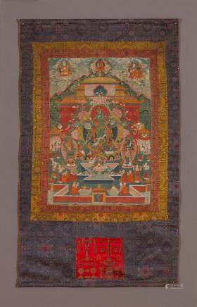 A thangka of Green Tara