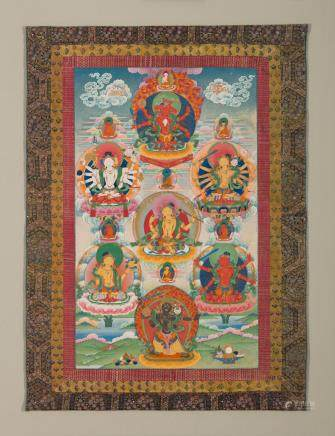 A thangka of Seven Taras