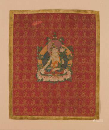 A rare thangka of Sitatara