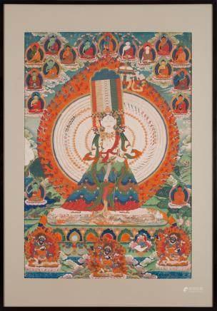 A thangka of Sitatapatraparajita