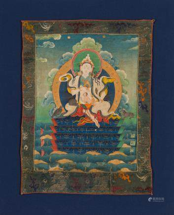 A rare thangka of Lakshmi