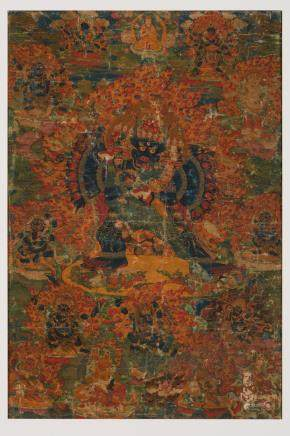 A thangka of Vajrabhairava