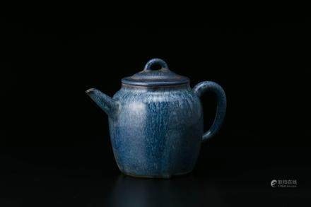 葛明祥造 海鼠釉紫砂壶
