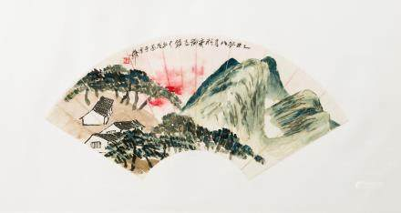 Qi Baishi (1864-1957) Cottage in the Pine Forest