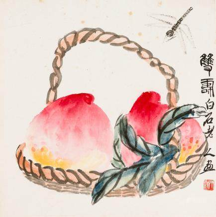 Qi Baishi (1864-1957) Longevity Blessings