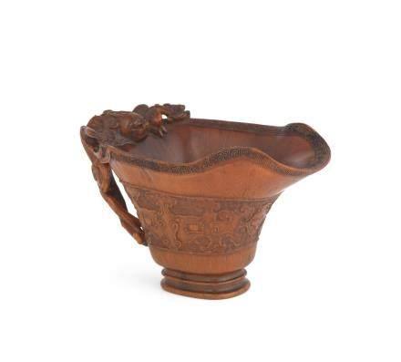 A rare archaistic rhinoceros horn libation cup