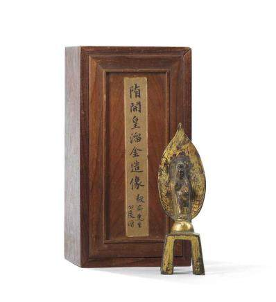 隋  開皇七年(587) 鎏金銅觀音立像