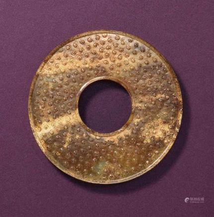 漢  青褐玉環