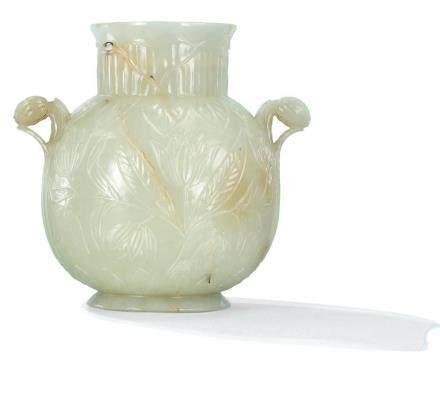 清十七 / 十八世紀 白玉痕都斯坦式瀝罐