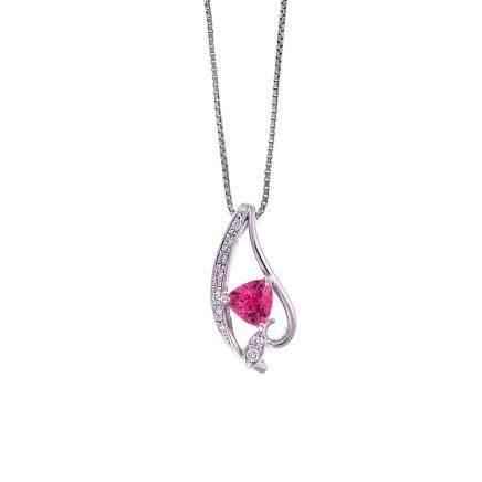 0.50 ct 尖晶石 鑽石 鉑金項鏈