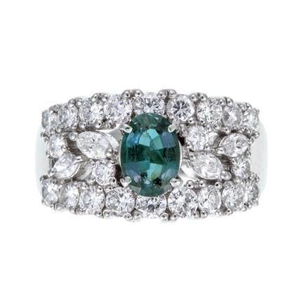 TASAKI 0.83 ct 亞歷山大石 鑽石 鉑金戒指