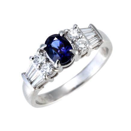 1.16 ct 皇家藍藍寶石 鑽石 鉑金戒指