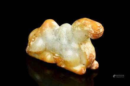 HETIAN JADE CARVED 'CAMEL' FIGURE
