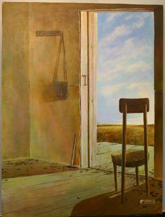 "ALEXANDER YELAGIN, Title ""Doorway"" Artist signed, Oil"