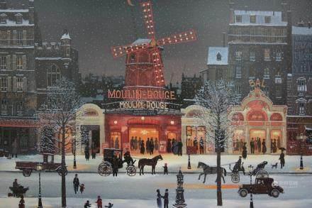 """MICHEL DELACROIX, Title """"Moulin Rouge Sous La Neige"""""""