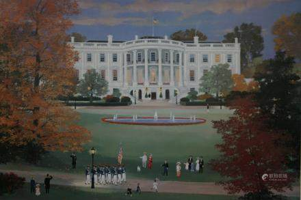 "MICHEL DELACROIX, Title ""The White House"" Off set"