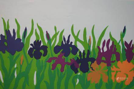 """STEVEN HARDY, Title """"Iris"""" Limited edition serigraph on"""