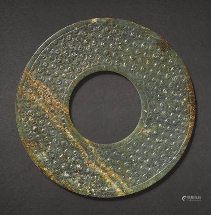 A JADE DISC, HUAN PROBABLY EASTERN ZHOU DYNASTY