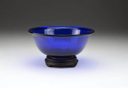 CHINESE COLBALT PEKING GLASS BOWL