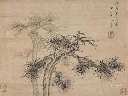 CAO ZHIBAI (ATTRIBUTED TO,1271-1355), PINE
