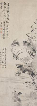 JIANG TINGXI (ATTRIBUTED TO, 1669-1732), LOTUS IN THE RAIN