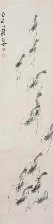 QI BAISHI (ATTRIBUTED TO, 1863-1957), SHRIMPS