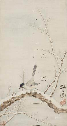 GAO JIANFU (ATTRIBUTED TO, 1879-1951), BIRD IN SNOW