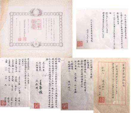Japanese Antique Paper Document