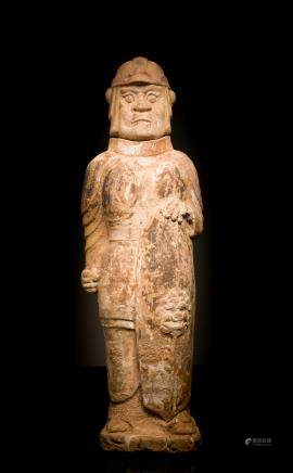 North Qi Antique Pottery Figure