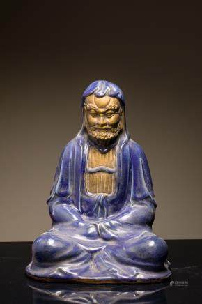 Late 19th Antique Figure: Bodhidharma (Damo)