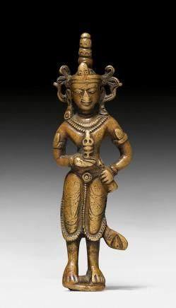 精巧珍罕的金剛薩埵立銅像。