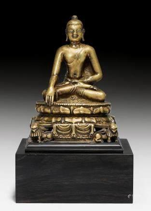寶獅座釋迦摩尼佛銅像。
