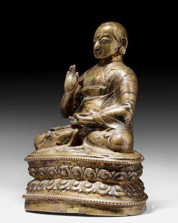 鑄銅高僧像。