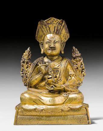 鎏金銅章嘉大师像,乾隆皇帝的國師。