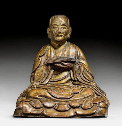 銅合金羅漢像。