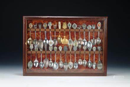 A box of 30 silver coffee spoons