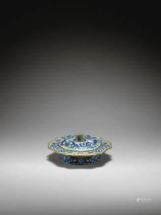十七世紀 掐絲琺瑯福祿壽螭龍紋唾盂