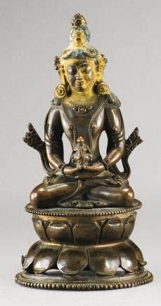 十八世紀 西藏 銅合金無量壽佛坐像
