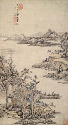 Style of Wang Yuanqi (1642-1715), China, dated 1700, Landscape in the literati style