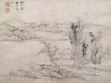 Style of Wang Hui (1632-1717), China, Qing dynasty, Landscape after Ni Zan