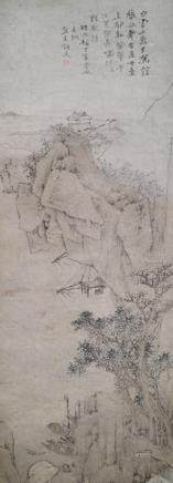 Style of Xiao Yuncong (1596-1673), China, Qing dynasty, Landscape with Fishing Boats