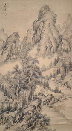 Style of Zhang Hong (1577-after 1668), China, Qing dynasty, Mountain Landscape with Buffaloes