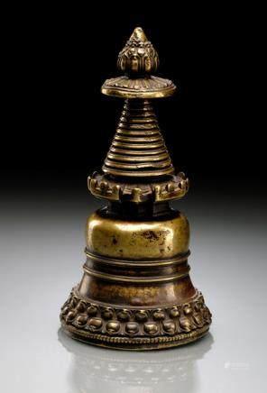 A BRONZE STUPA, Tibet, 12