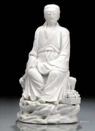 A DEHUA MODEL OF SEATED GUANYIN