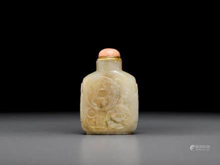 十九世紀末/二十世紀 石料刻古錢幣鼻煙壺