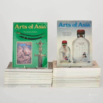 A Group of Forty-Two Arts of Asia Magazines (1980-1981) (42 Pieces)